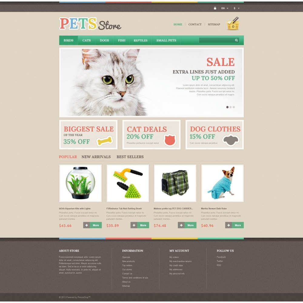 theme - Animales y Mascotas - Pets Store - 4