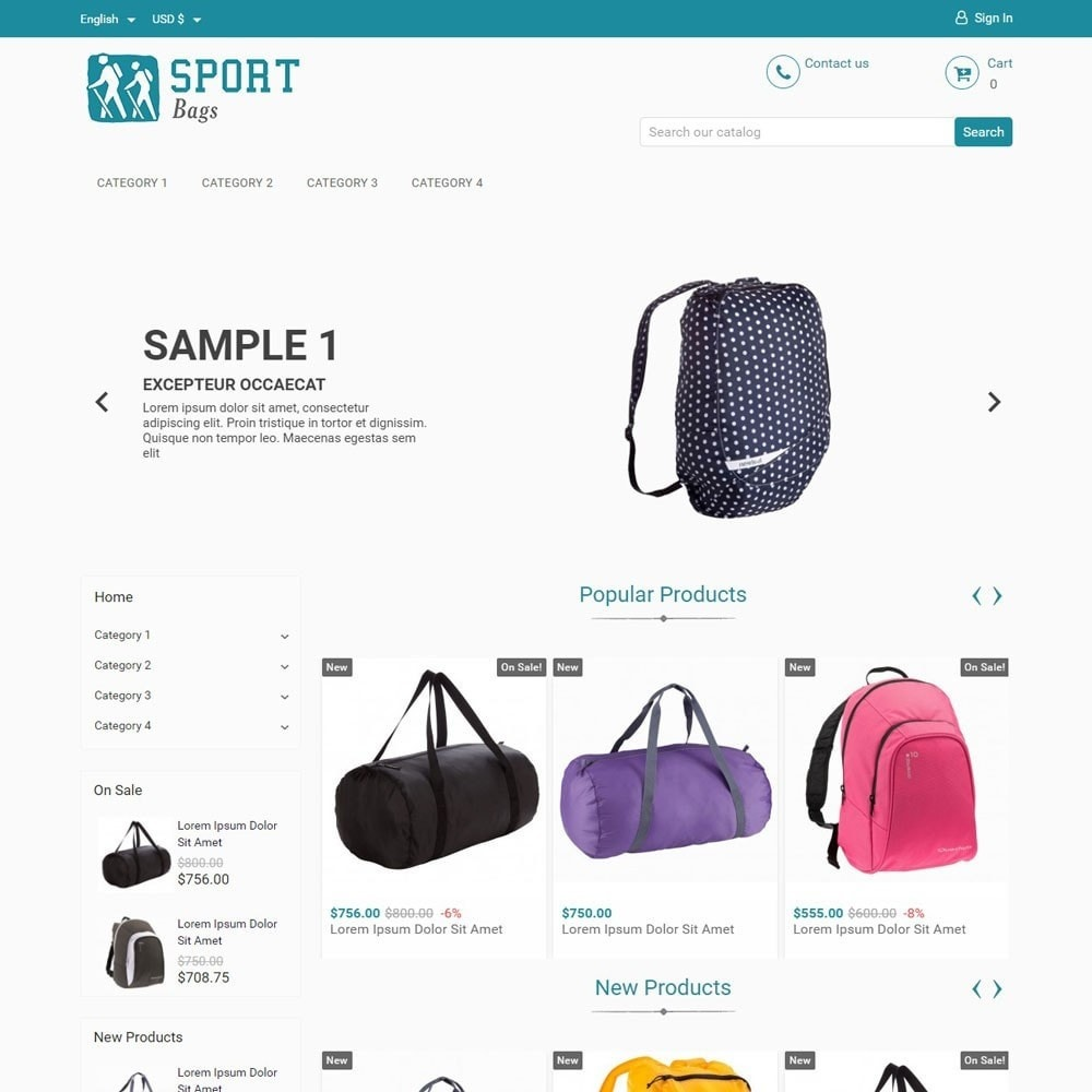 theme - Sport, Attività & Viaggi - SportBags - 1