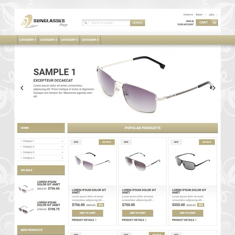 theme - Bellezza & Gioielli - SunglassesShop - 1