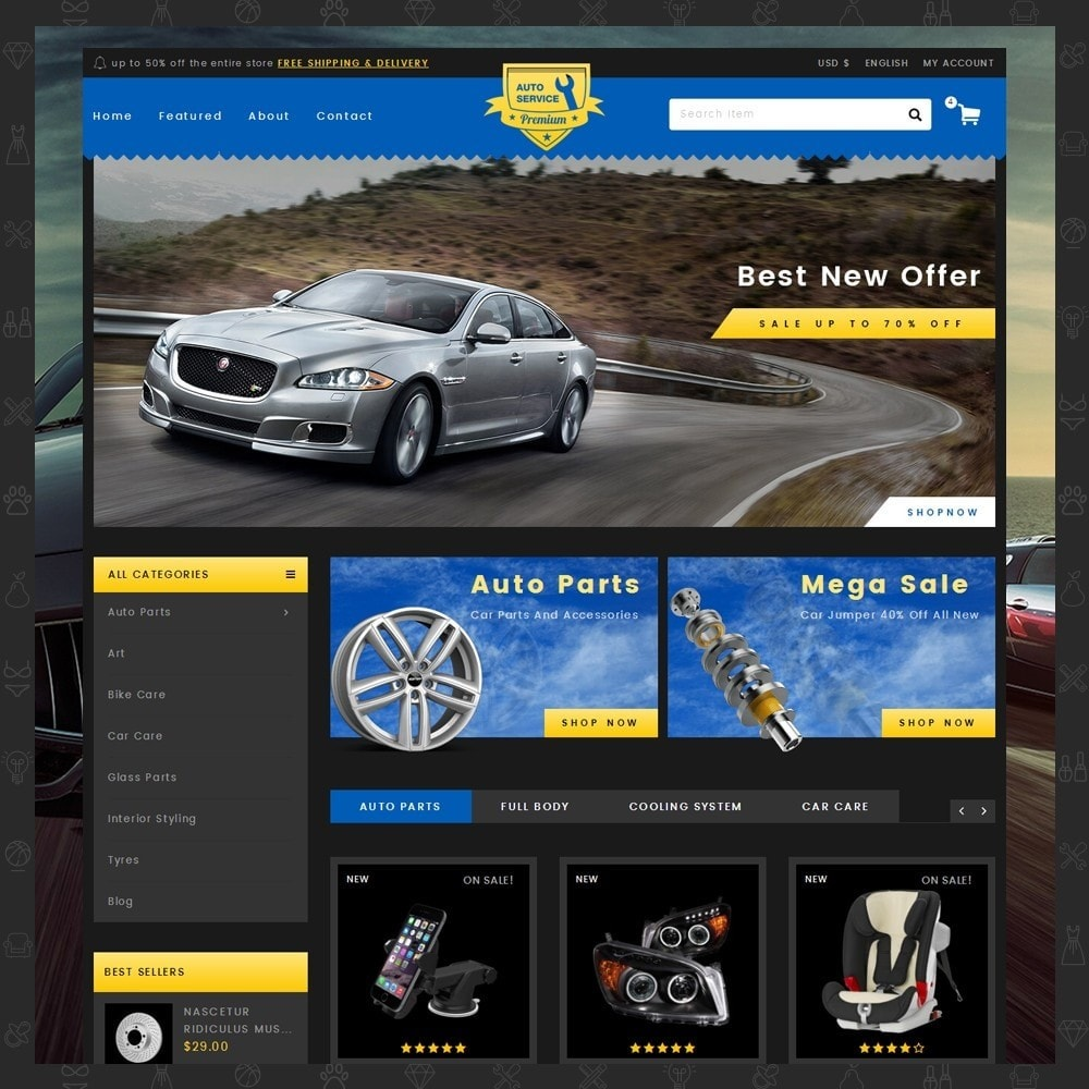 theme - Carros & Motos - Auto Service - Premium Store - 2