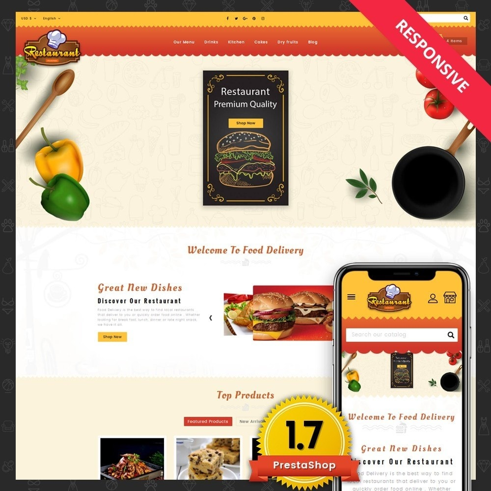theme - Lebensmittel & Restaurants - Restaurant Food Store - 1