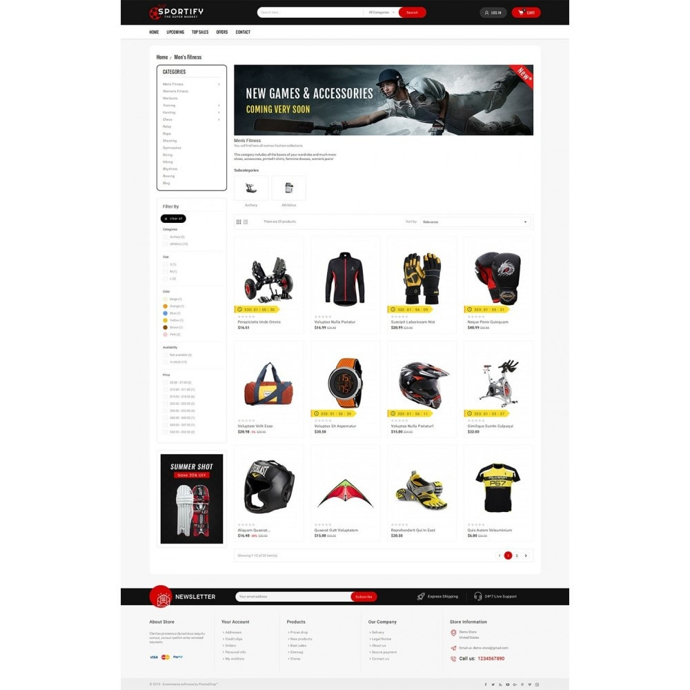 theme - Sport, Aktivitäten & Reise - Mega Shoppe Sports - 4