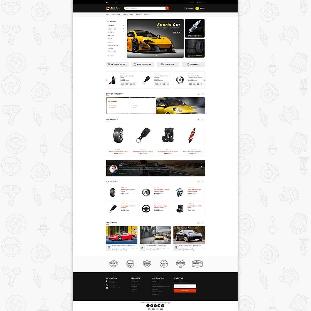 theme - Auto & Moto - Autobase - Sport Bike & Car - 2