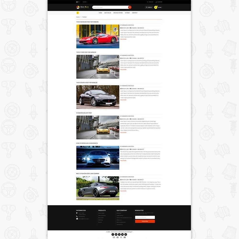 theme - Auto & Moto - Autobase - Sport Bike & Car - 6