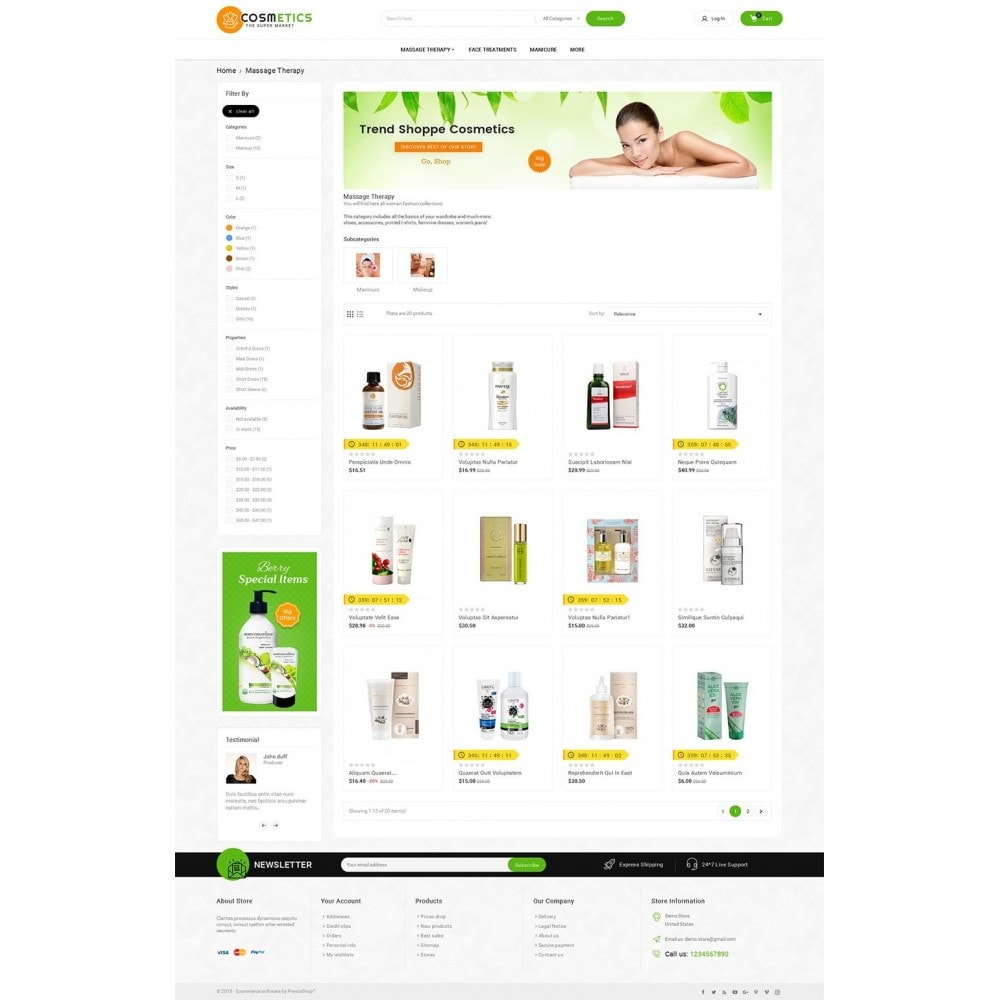 theme - Gesundheit & Schönheit - Mega Shoppe Bio Cosmetics - 4