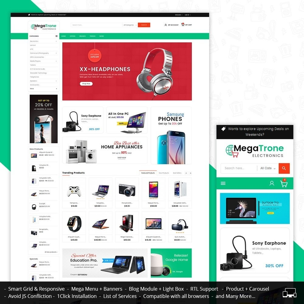 theme - Electrónica e High Tech - Mega Shop Electronics - 2