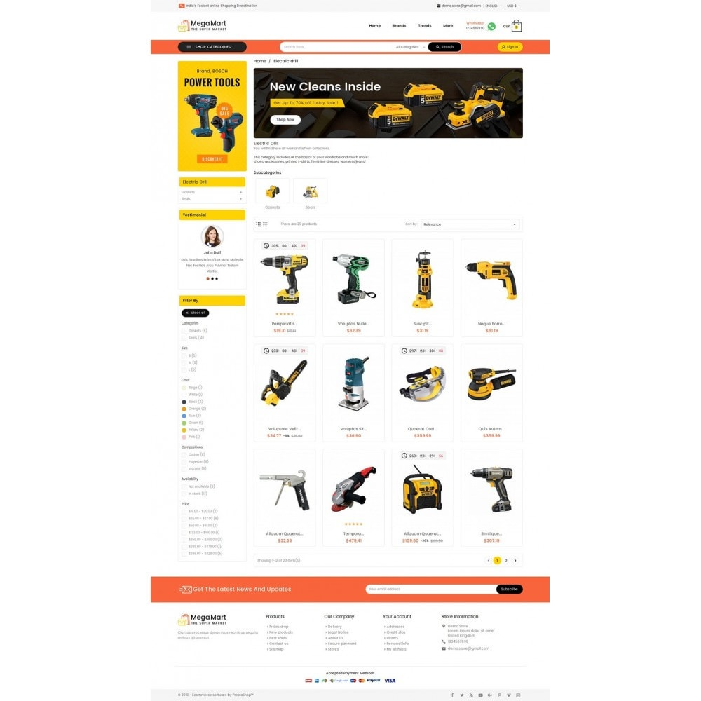 theme - Elektronik & High Tech - Mega Mart Tools Equipment - 4
