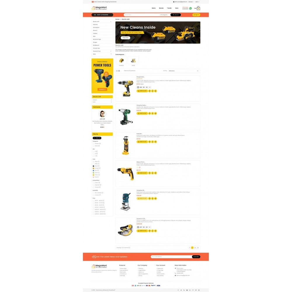 theme - Elettronica & High Tech - Mega Mart Tools Equipment - 5