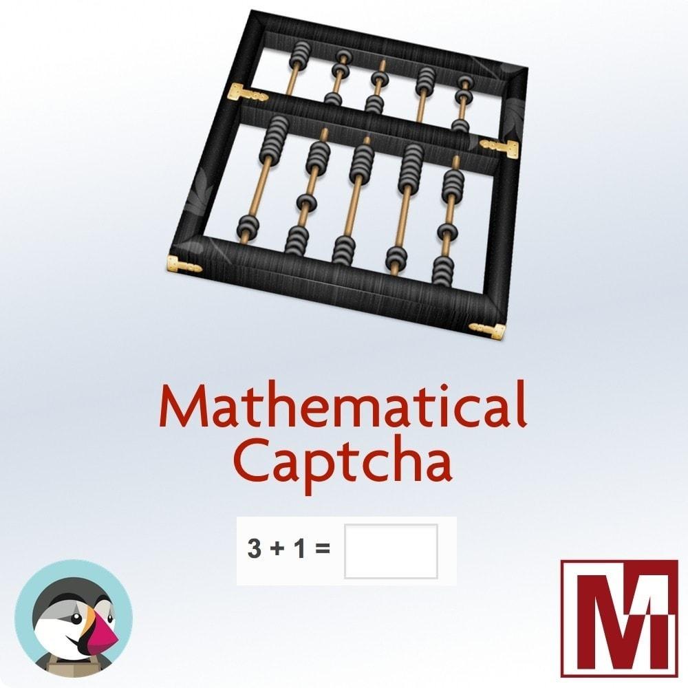module - Sécurité & Accès - Captcha mathématique, une meilleure sécurisation - 1
