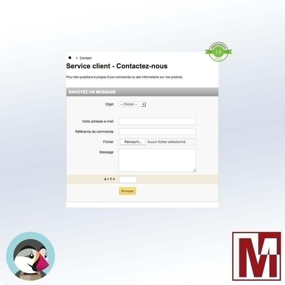 module - Sécurité & Accès - Captcha mathématique, une meilleure sécurisation - 4