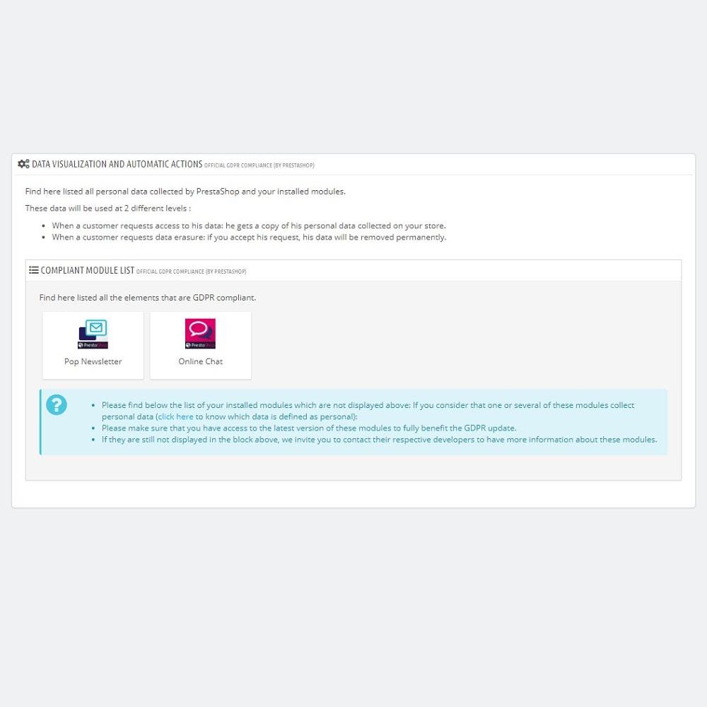 module - Jurídico - Conformidade oficial com o RGPD by PrestaShop (1.7) - 3