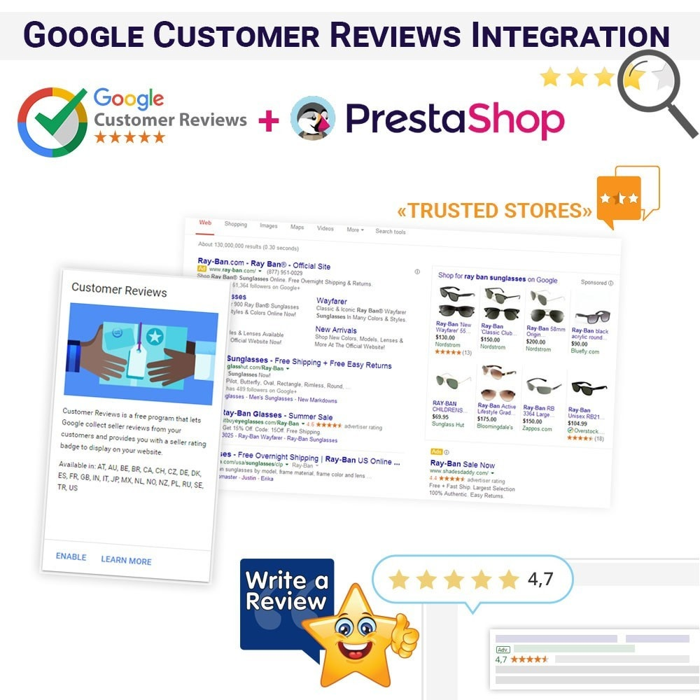 module - SEO (Indicizzazione naturale) - Google Customer Reviews Integration - 1