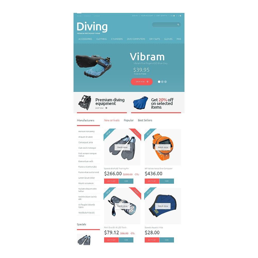 theme - Спорт и Путешествия - Diving Shop - 7