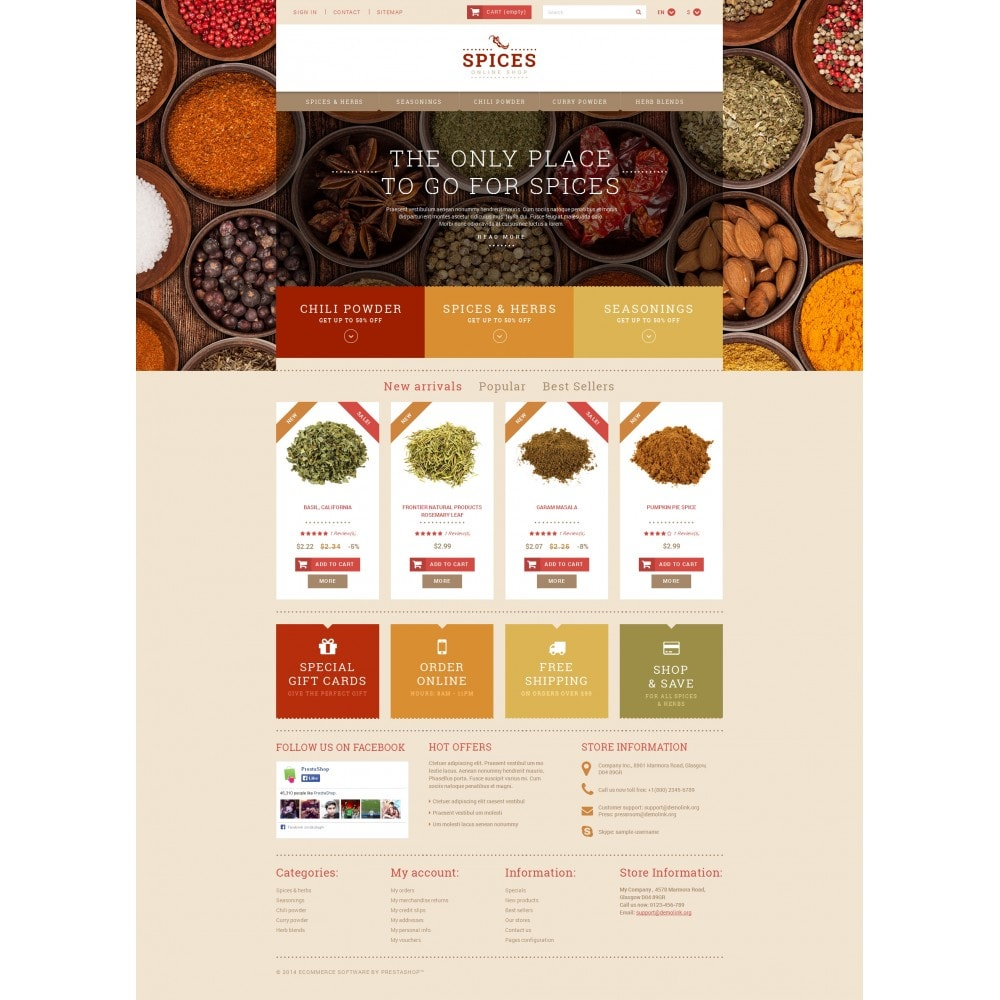 theme - Alimentation & Restauration - Spice Shop - 4