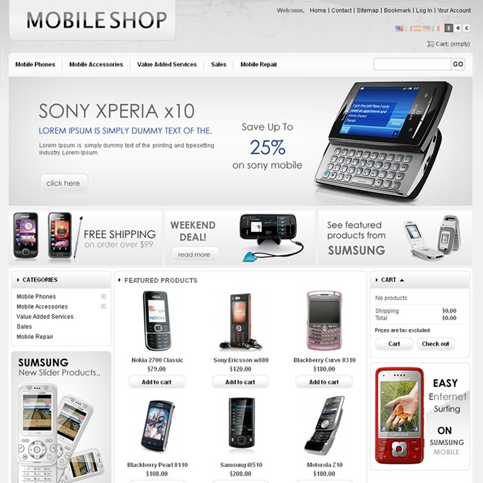 theme - High Tech - Mobile Prestashop Theme - PRS030053 - 1