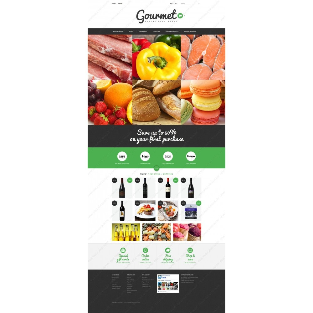 theme - Alimentos & Restaurantes - Food Shop - 3