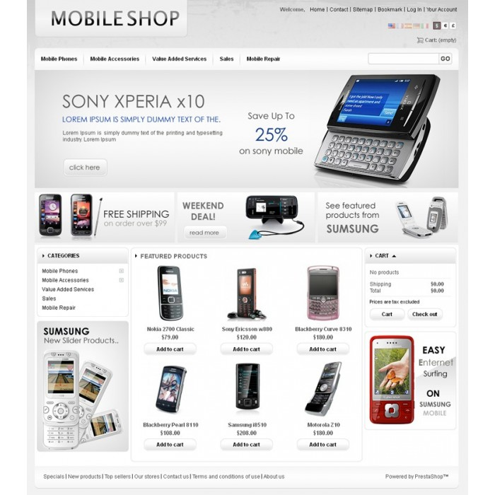 theme - High Tech - Mobile Prestashop Theme - PRS030053 - 2