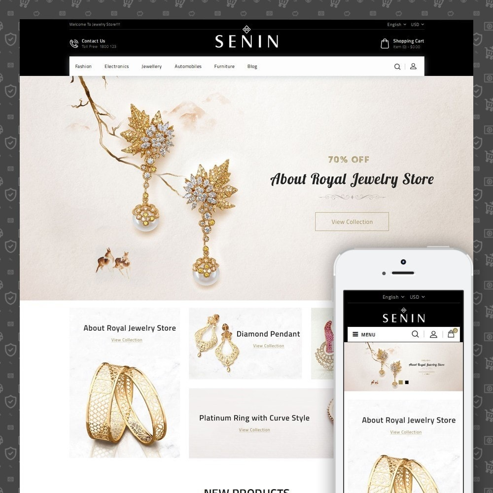 theme - Bellezza & Gioielli - SENIN - Jewelry Store - 1