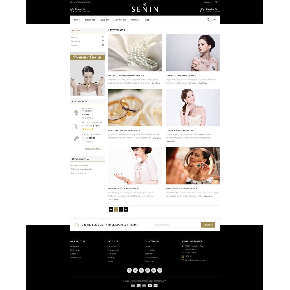 theme - Bellezza & Gioielli - SENIN - Jewelry Store - 9