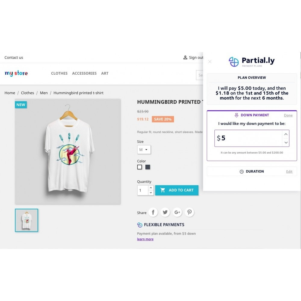 module - Other Payment Methods - Partial.ly payment plans - 3