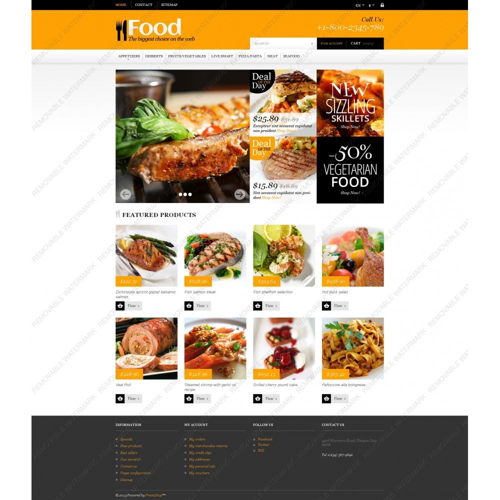 theme - Lebensmittel & Restaurants - Online Orders of Meals - 5