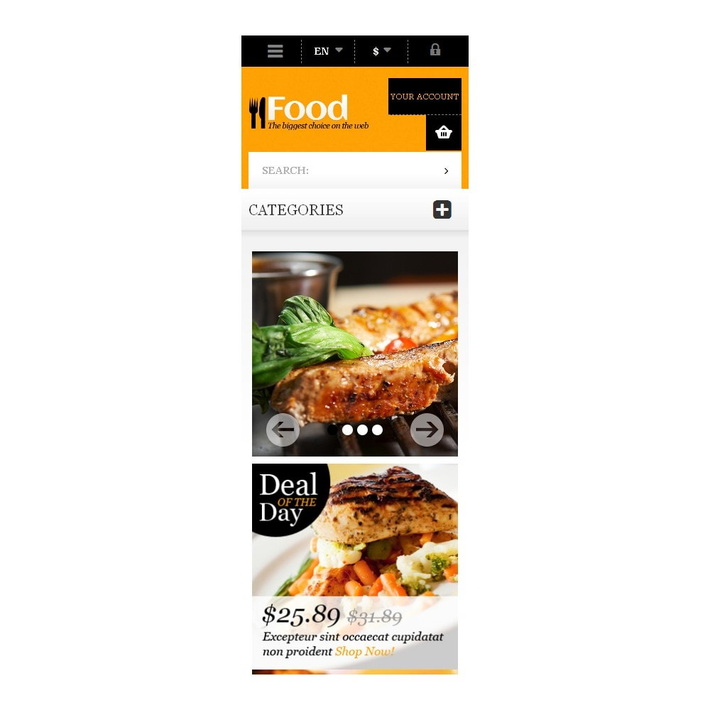 theme - Lebensmittel & Restaurants - Online Orders of Meals - 9