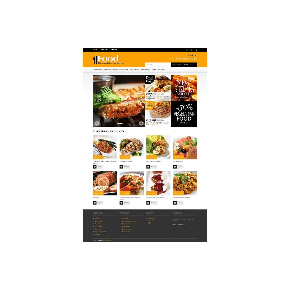 theme - Lebensmittel & Restaurants - Online Orders of Meals - 10