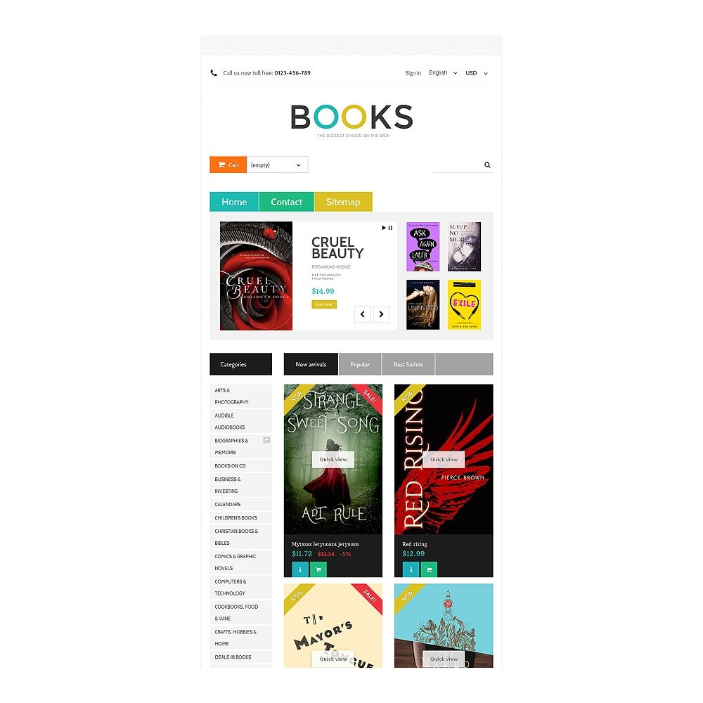 theme - Art & Culture - Online Bookstall - 7