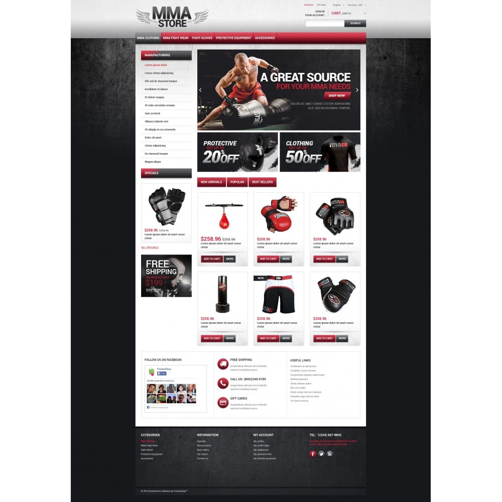 theme - Sports, Activities & Travel - MMA Store - 4