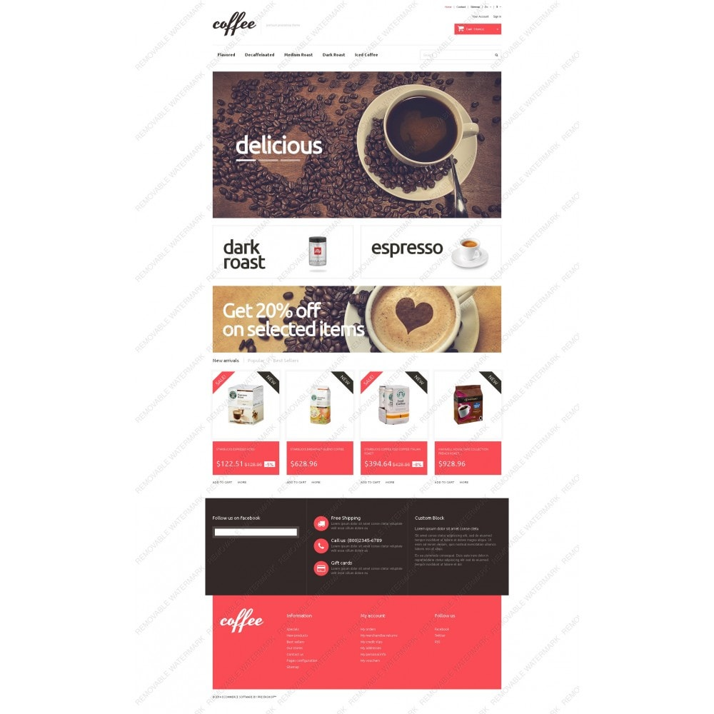 theme - Alimentation & Restauration - Coffee Maniacs - 3