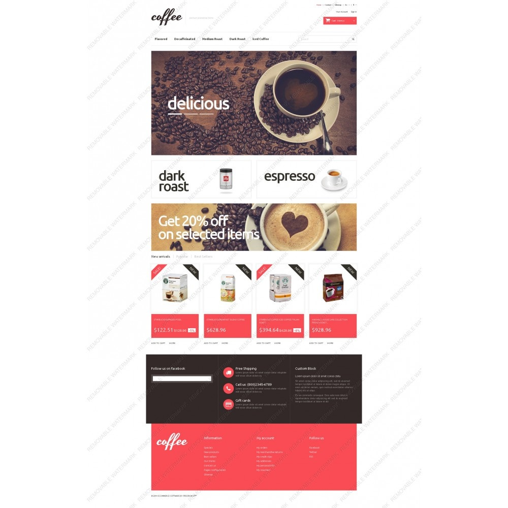 theme - Alimentation & Restauration - Coffee Maniacs - 5