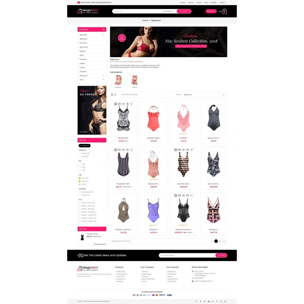 theme - Lingerie & Adulti - Mega Mart Sexy Lingerie - 4