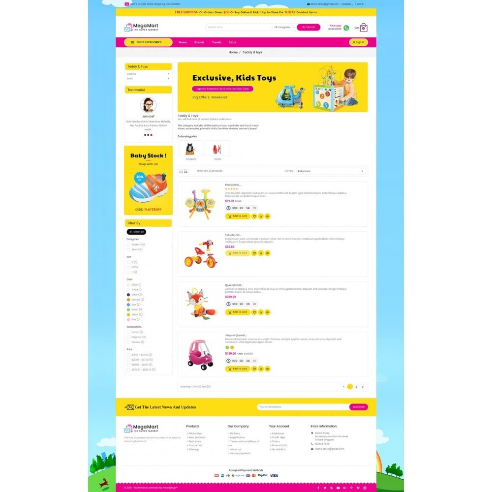 theme - Kinder & Spielzeug - Mega Mart Kids Toys - 5