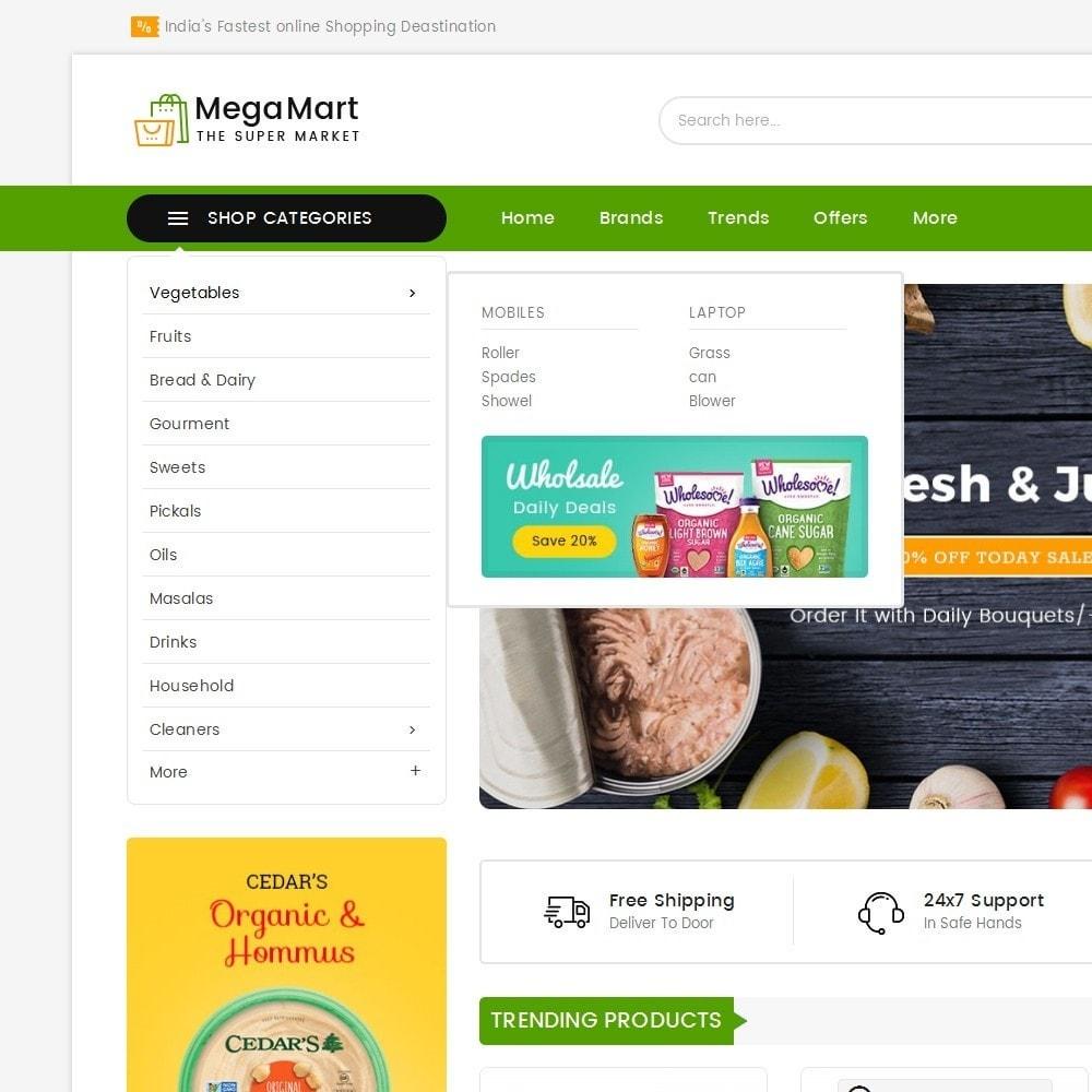 theme - Alimentation & Restauration - Mega Mart Grocery - 10