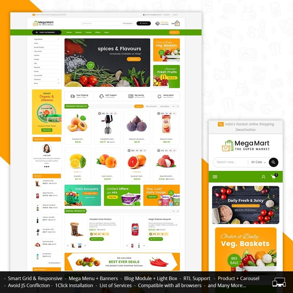 theme - Gastronomía y Restauración - Mega Mart Grocery - 2