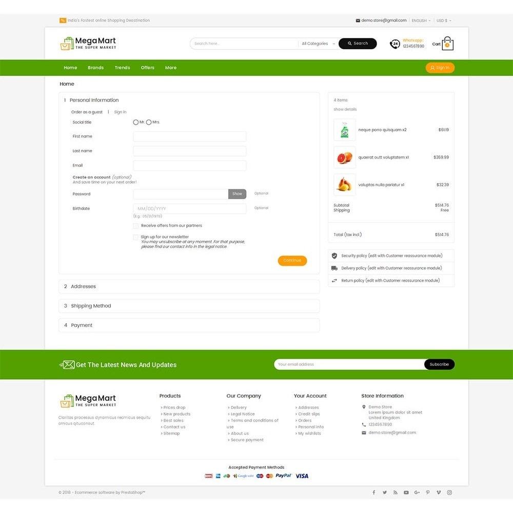 theme - Cibo & Ristorazione - Mega Mart Grocery - 8