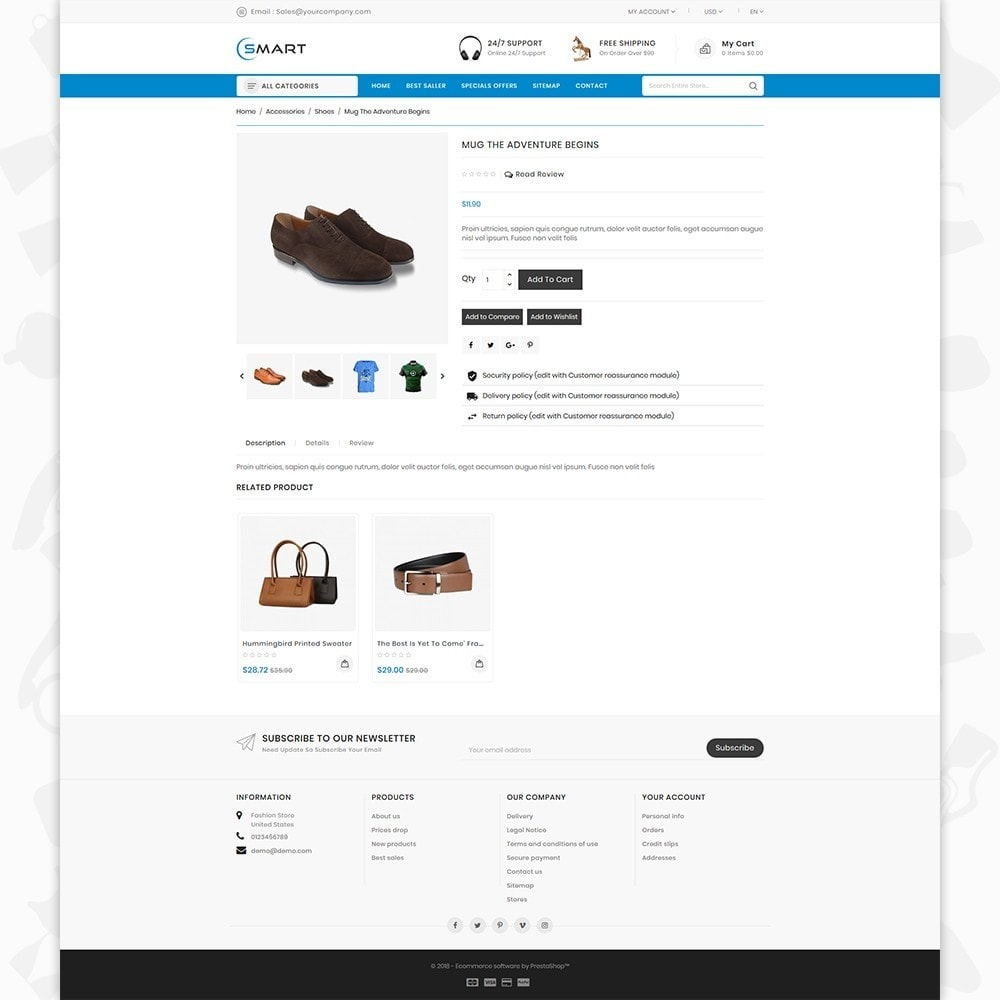 theme - Fashion & Shoes - Smart  - The Smart Store - 5