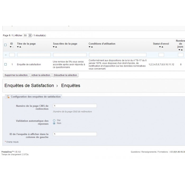 module - Formulario de contacto y Sondeos - Satisfaction Survey - 23
