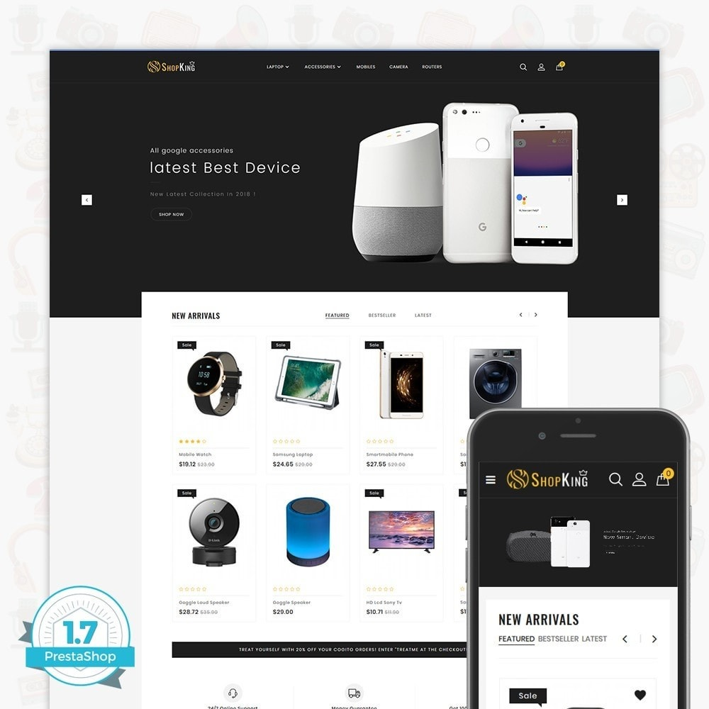 theme - Eletrônicos & High Tech - ShopKing - The Large Ecommerce Store - 1