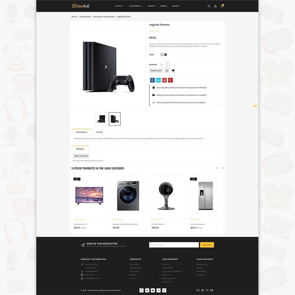 theme - Elektronika & High Tech - ShopKing - The Large Ecommerce Store - 5
