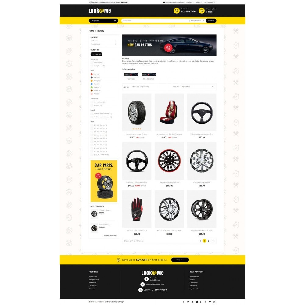 theme - Auto & Moto - Look me Auto Parts - 4