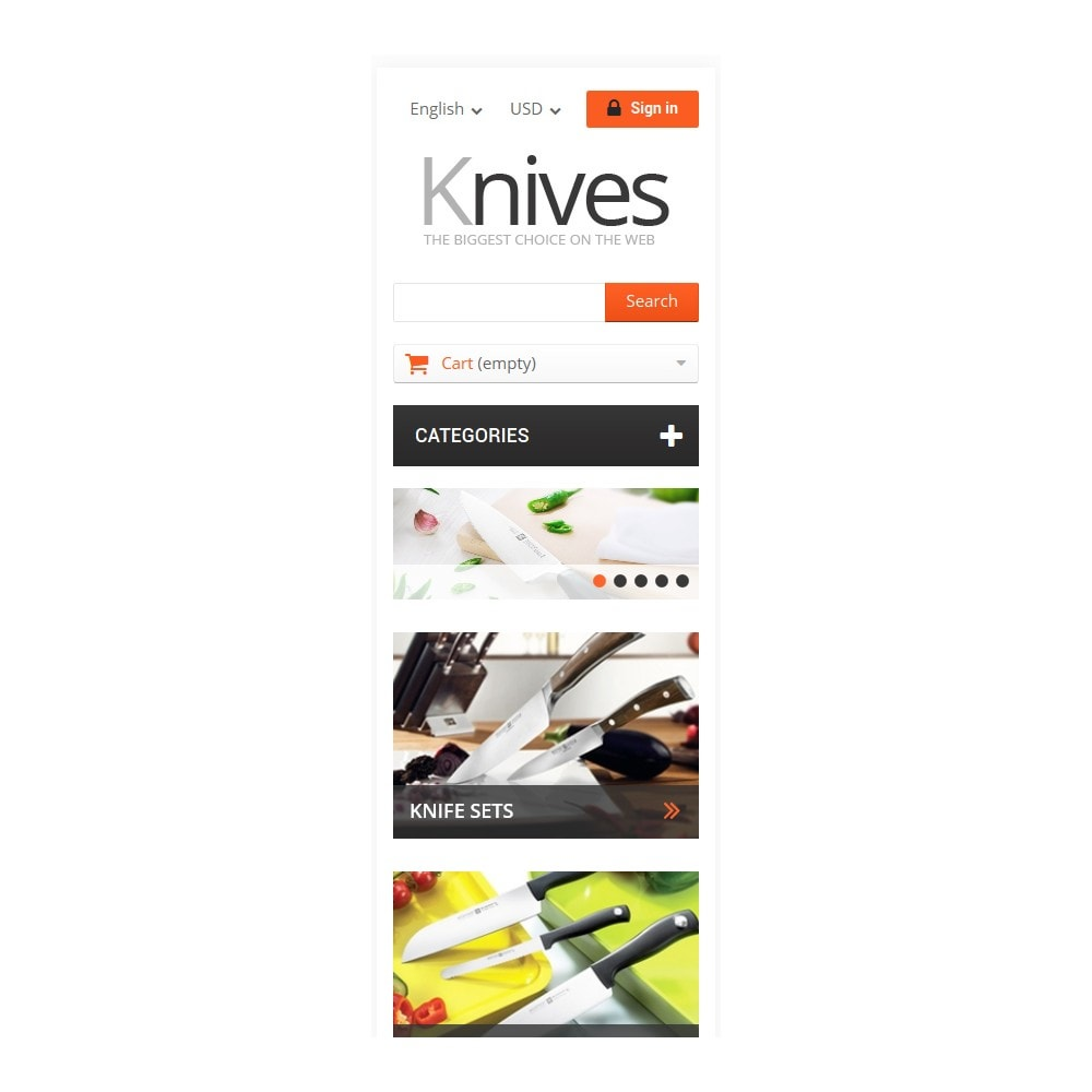 theme - Arte & Cultura - Selling Knives - 9