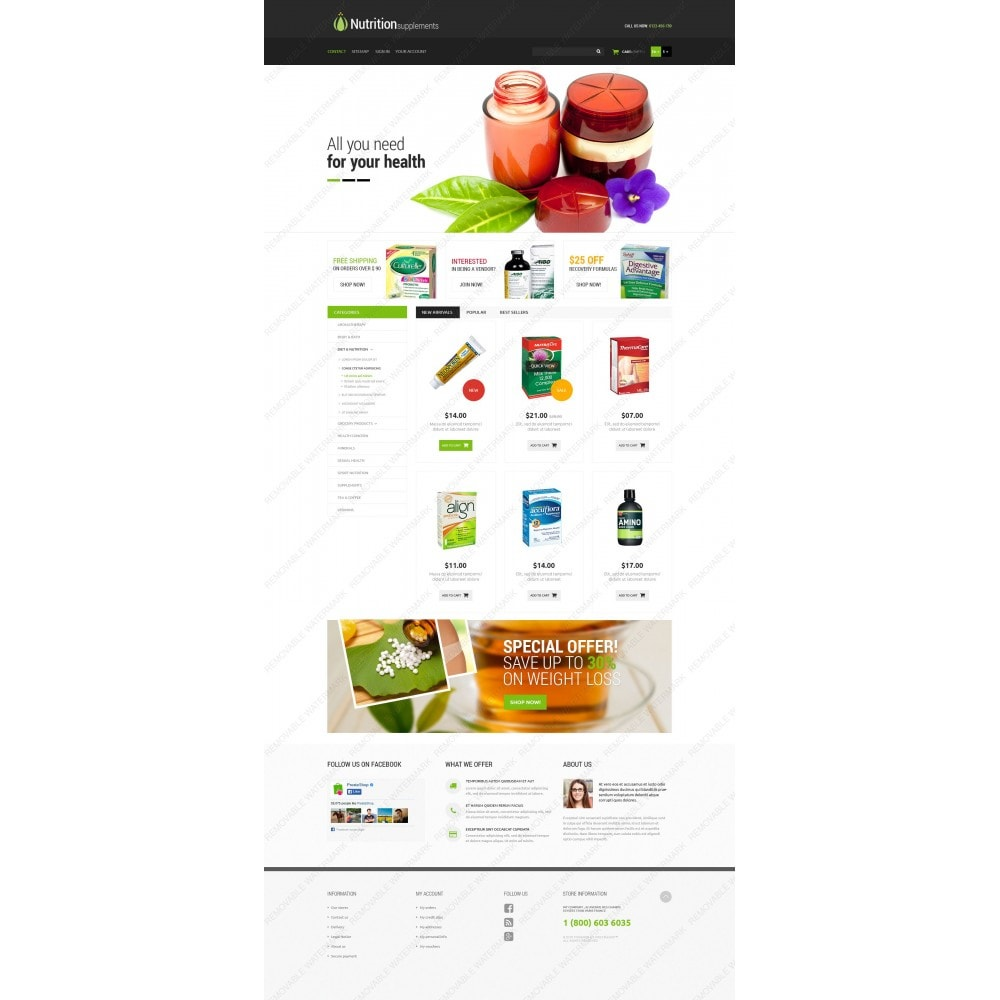 theme - Salute & Bellezza - Nutrition Products - 3