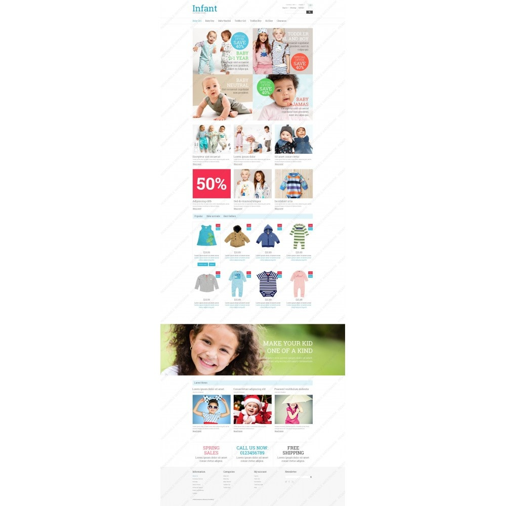 theme - Dom & Ogród - Infant Clothing Store - 3