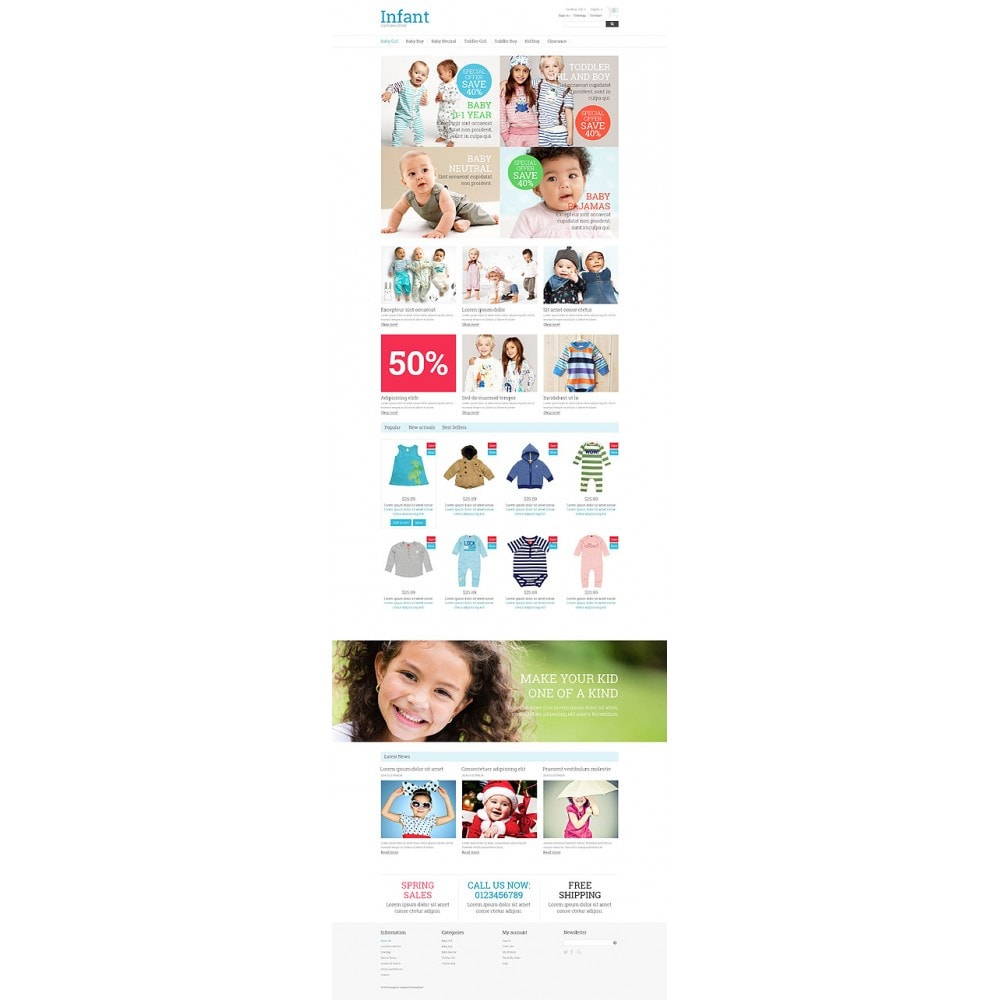 theme - Dom & Ogród - Infant Clothing Store - 10