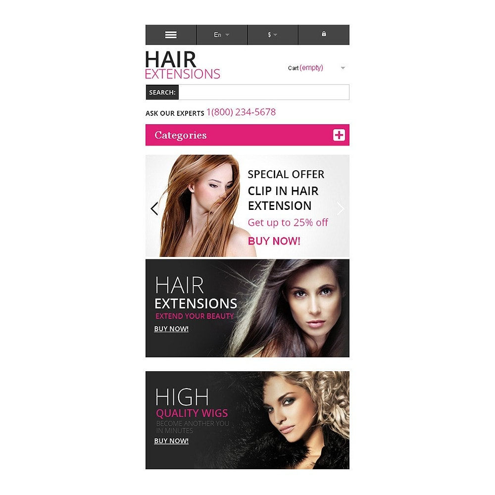 theme - Mode & Chaussures - Hair Extensions Store - 8