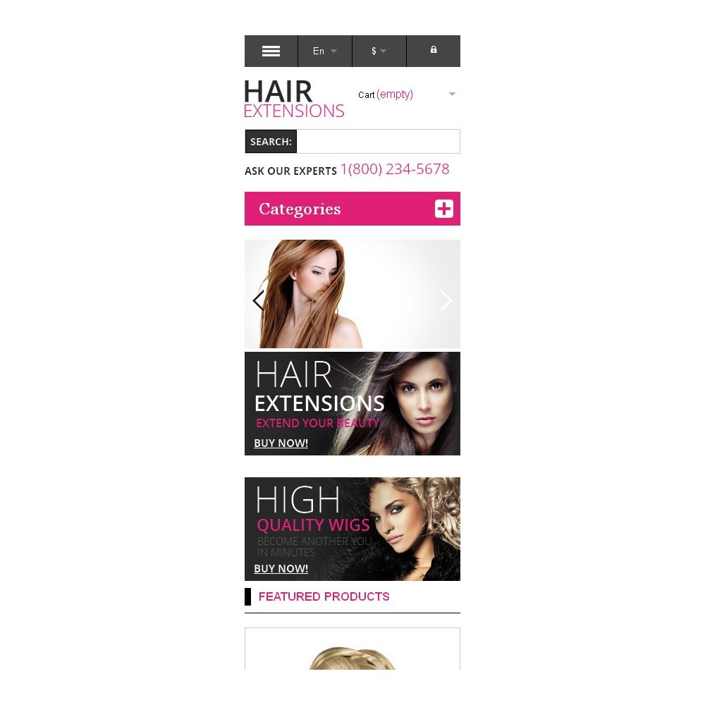 theme - Mode & Chaussures - Hair Extensions Store - 9