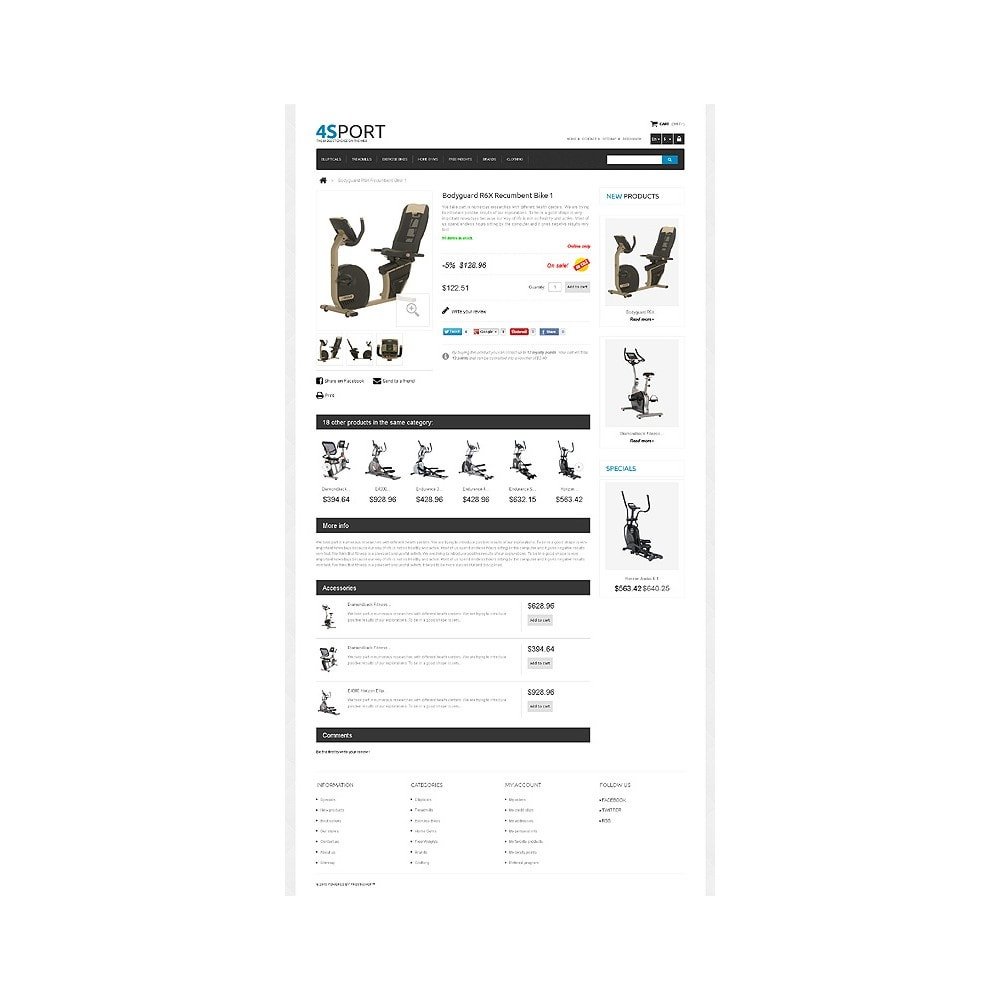 theme - Sports, Activities & Travel - Responsive Sport Store - 6