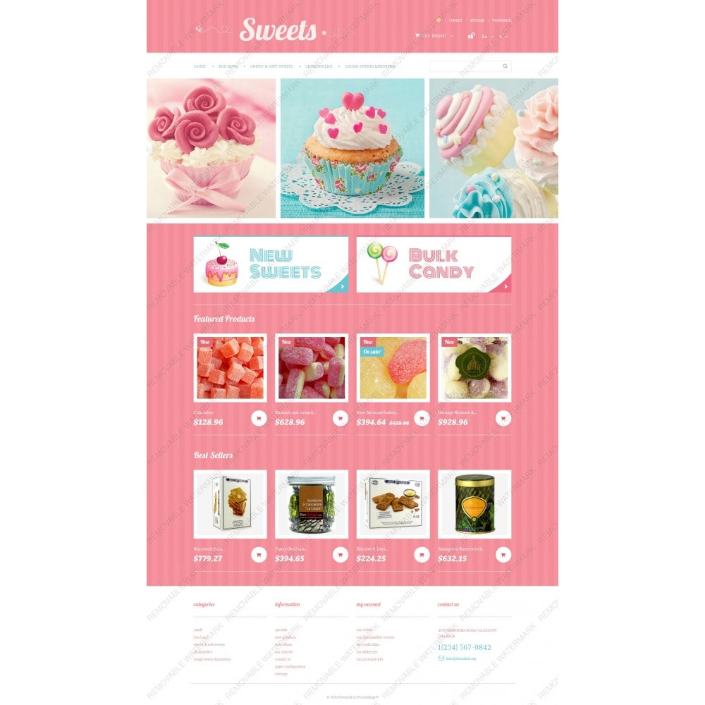 theme - Lebensmittel & Restaurants - Sweets Store - 3