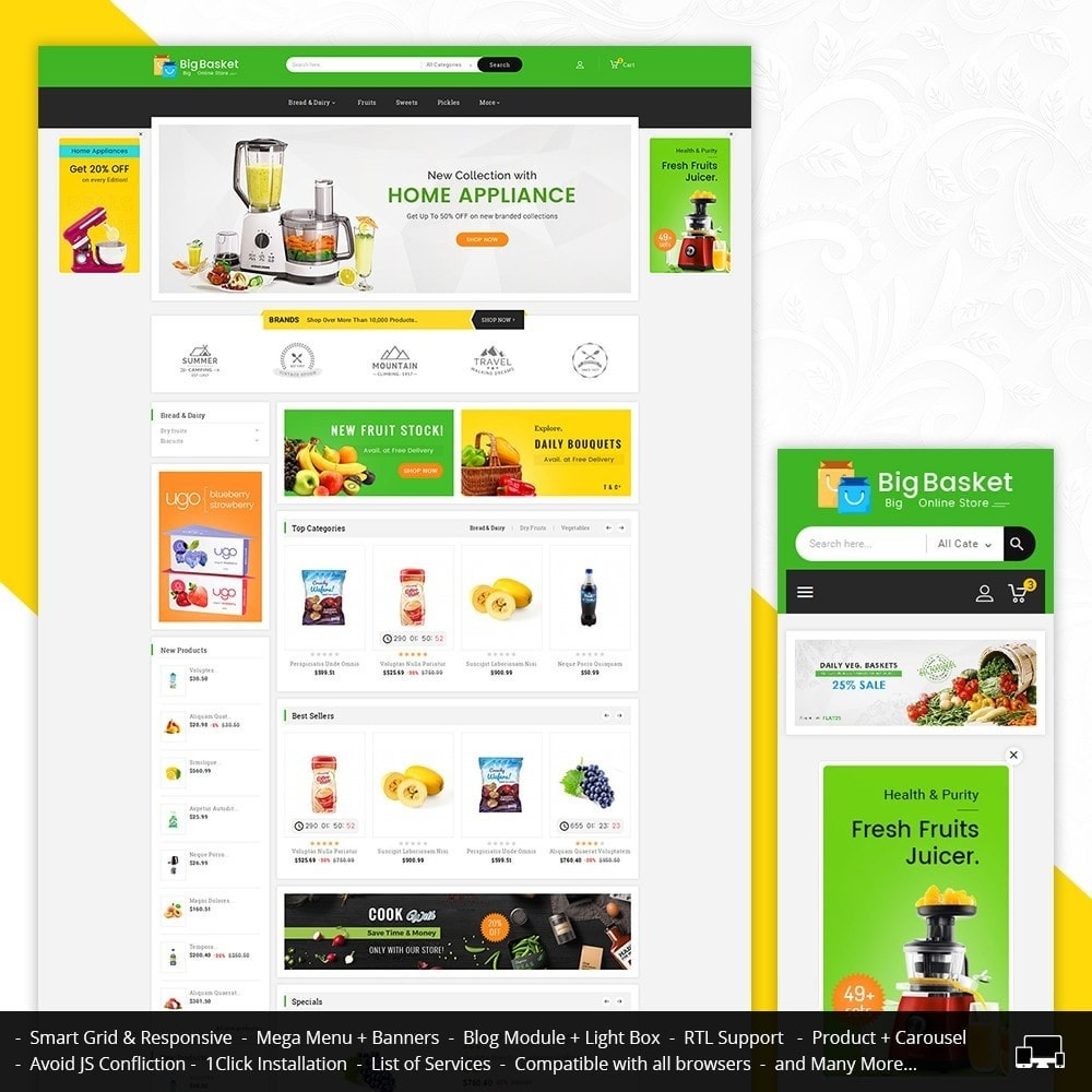 theme - Alimentation & Restauration - Big Basket Mega Grocery - 2